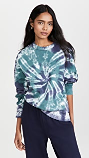 Tory Sport Relaxed French Terry Crew Sweatshirt