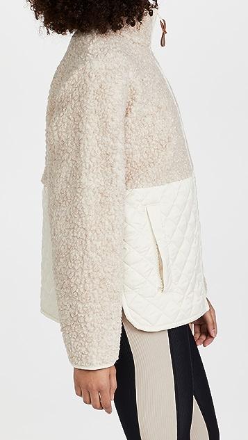 Tory Sport Sherpa Fleece Quilted Jacket