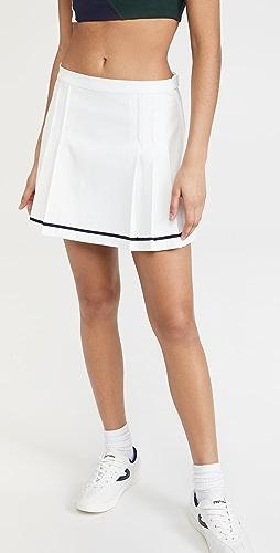 Tory Sport - 高科技斜纹裥褶网球半身裙