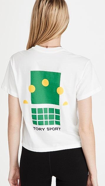 Tory Sport 图案短版 T 恤