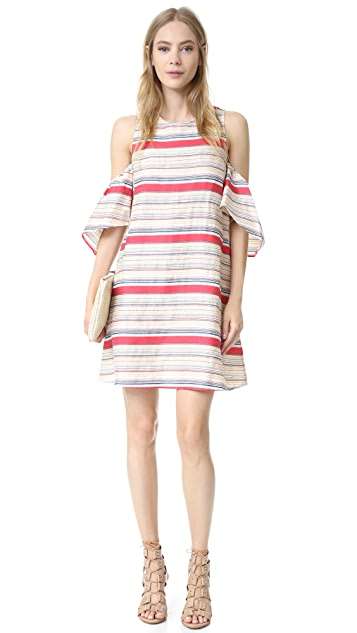 Tanya Taylor Textured Stripe Nola Dress