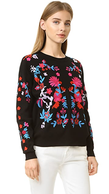 Tanya Taylor Embroidered Charlie Sweater