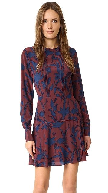 Tanya Taylor Floral Silk Odette Dress