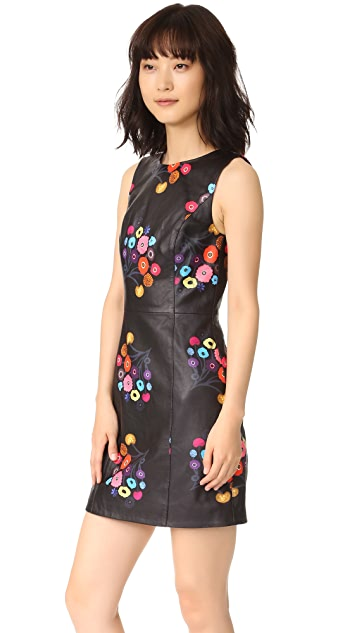Tanya Taylor Printed Leather Lira Dress