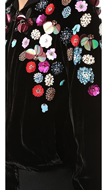Tanya Taylor Embellished Rachel Bomber Jacket