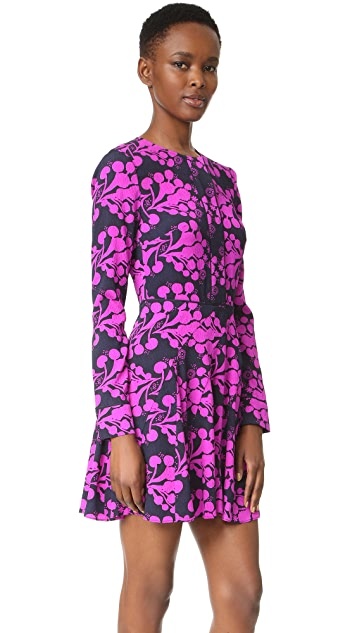 Tanya Taylor Textured Bouquet Print Dress
