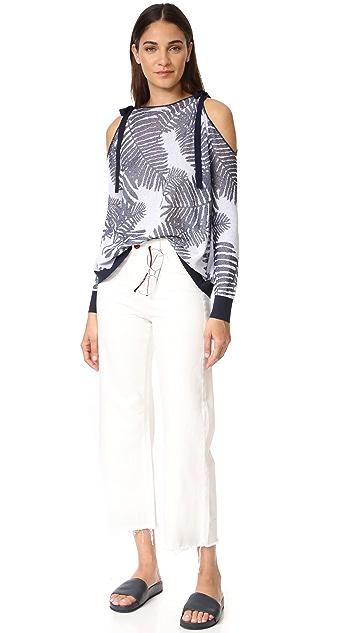 Tanya Taylor Palm Leaf Jacquard Sasha Sweater