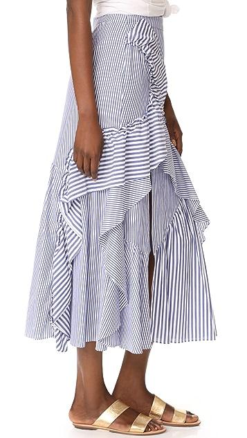 ... Tanya Taylor Menswear Stripe Jules Skirt ...