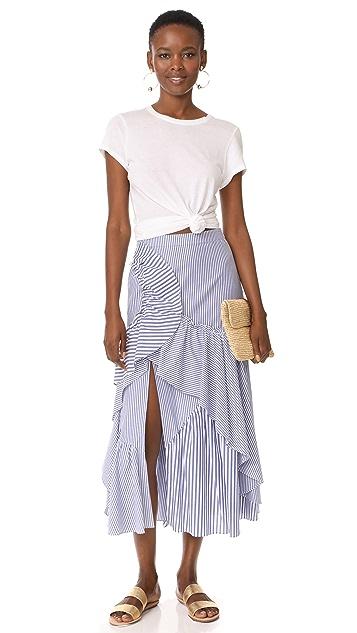 Tanya Taylor Menswear Stripe Jules Skirt