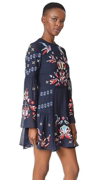 Tanya Taylor Cross Stitched Izzy Dress