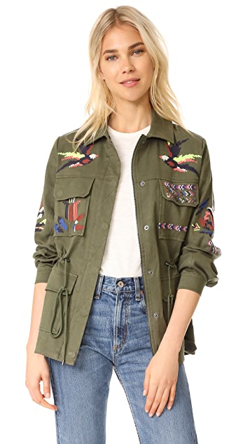 Tanya Taylor Embroidered Twill Alina Jacket