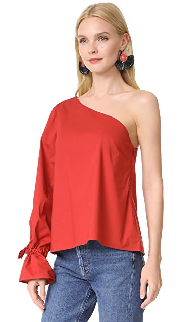 Tanya Taylor Cotton Voile Anka Top