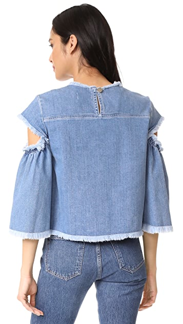 Tanya Taylor Denim Lida Top