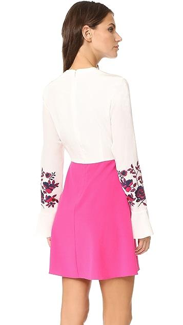 Tanya Taylor Kimono Embroidered Aidy Dress