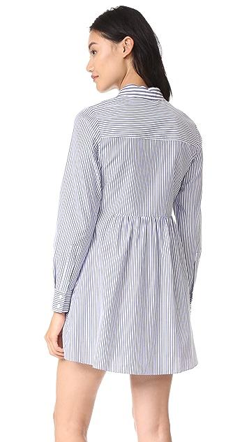 Tanya Taylor Menswear Stripe Kitt Dress