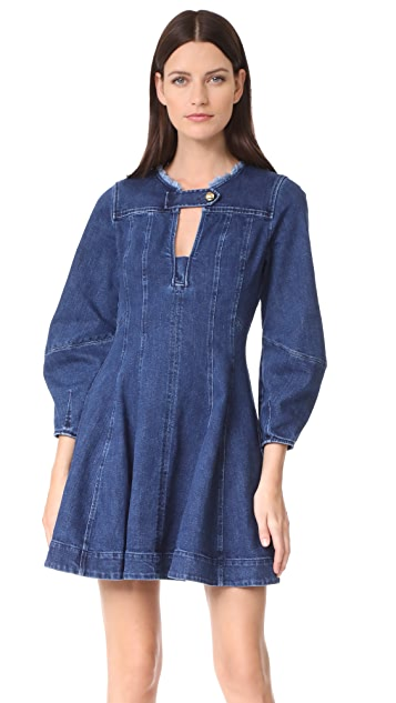 Tanya Taylor Denim Cybil Dress