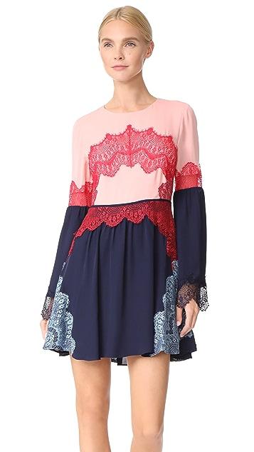 Tanya Taylor Lace Applique Cyra Dress