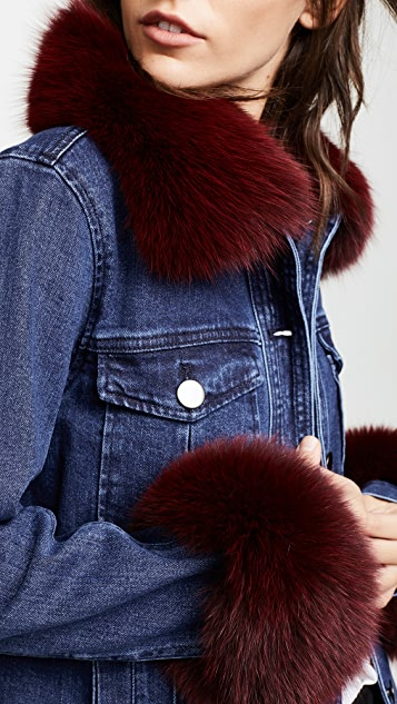 Tanya Taylor Fur Trim Jacket