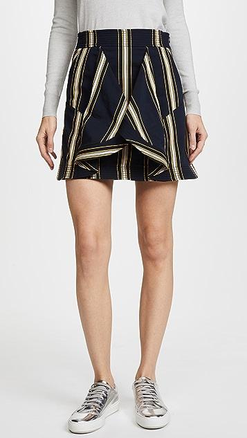 Tanya Taylor Tomi Skirt - Navy Stripe