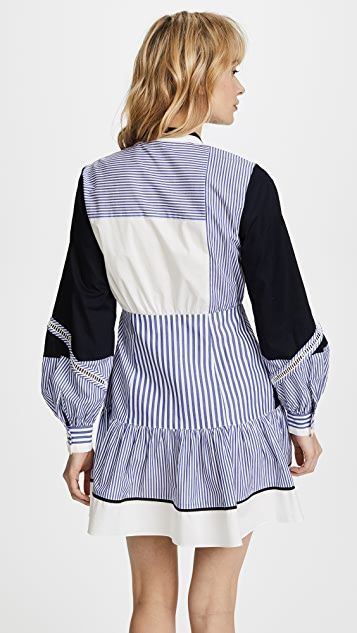 Tanya Taylor Menswear Stripe Yaya Dress