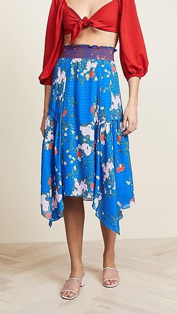 Tanya Taylor Catt Skirt - Azure