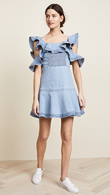 Tanya Taylor Lara Denim Dress