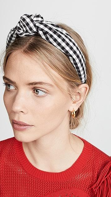 Tanya Taylor Gingham Headband