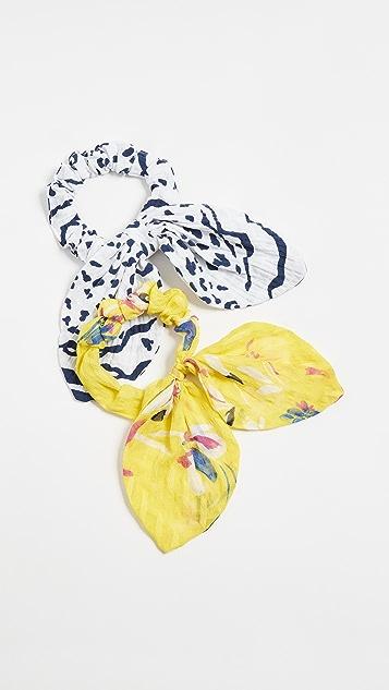Tanya Taylor Mixed Prints Scrunchies
