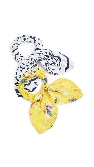 Tanya Taylor Резинки для волос с комбинированными принтами