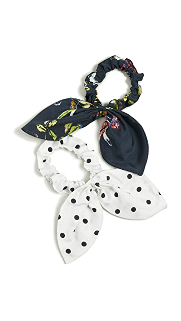Tanya Taylor Bow Scrunchie Set