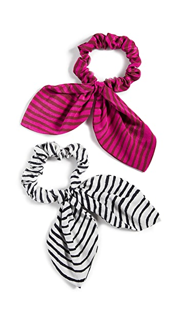 Tanya Taylor Set of 2 Scrunchies
