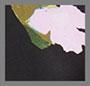 ворсованный умеренный черный с цветочным рисунком