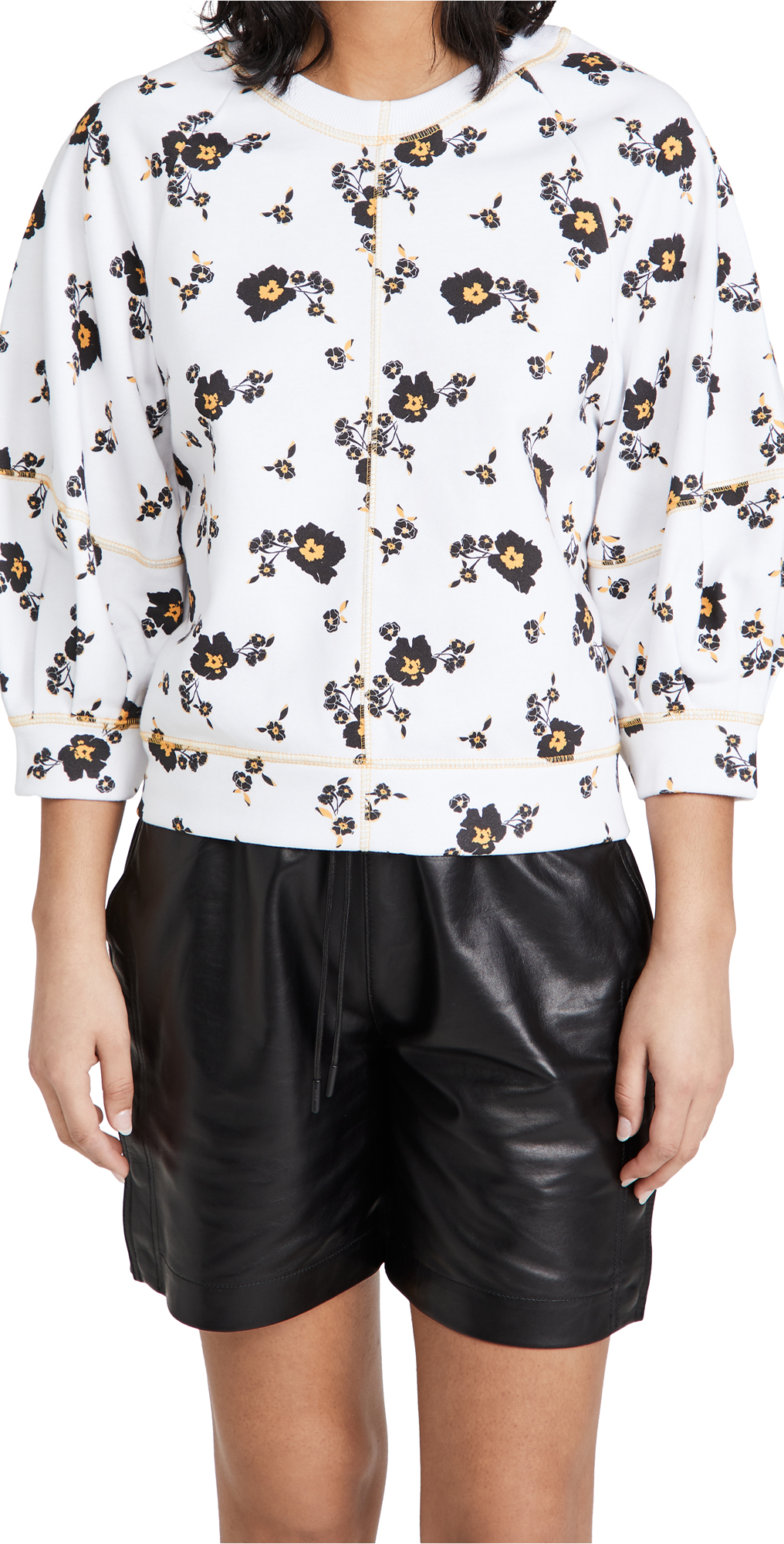 Tanya Taylor Women's Josephine Floral Sweatshirt In Scattered Blossom/optic White