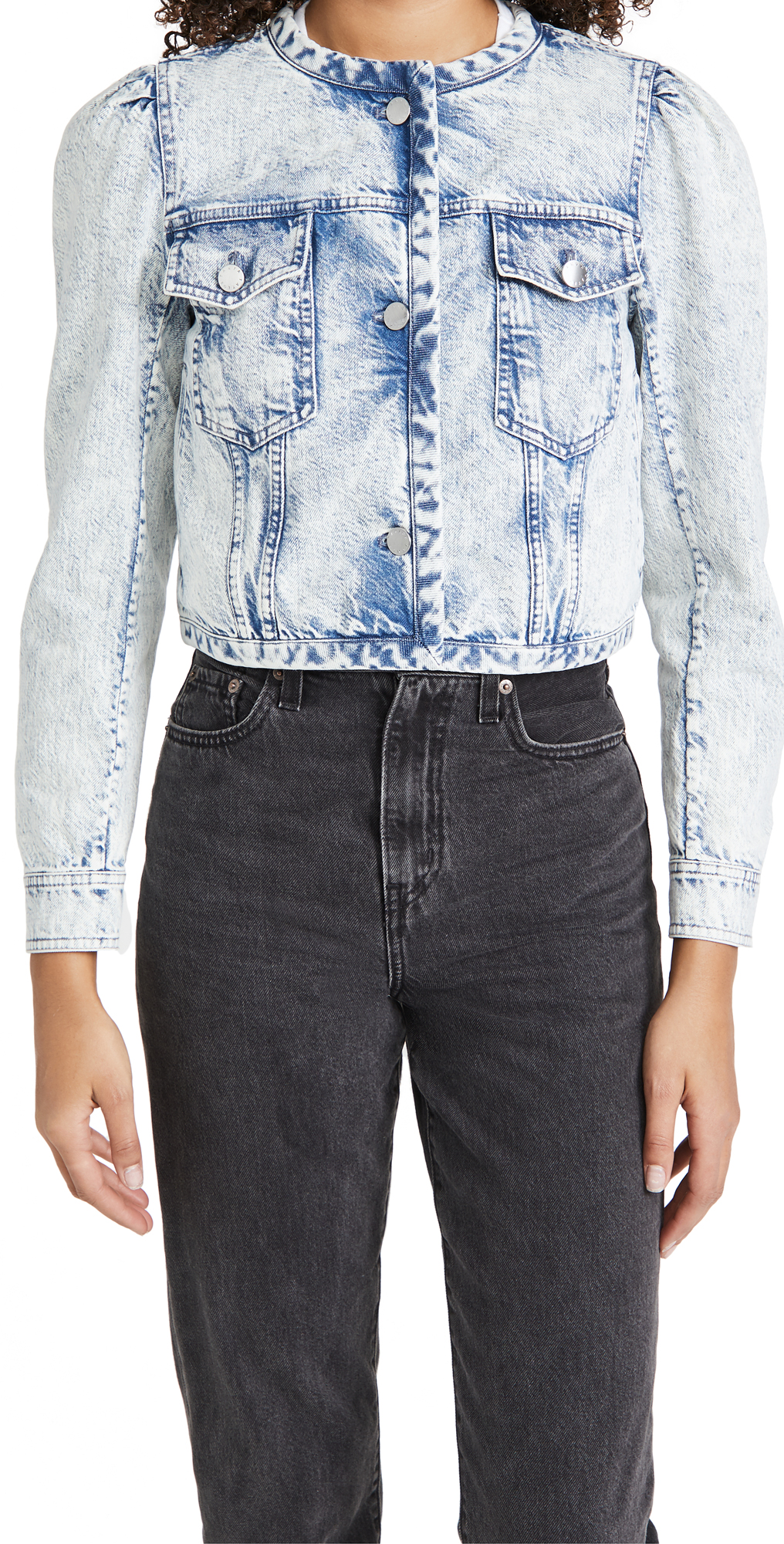 Tanya Taylor Cropped Denim Dakota Jacket