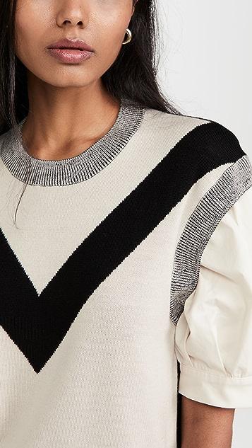 Tanya Taylor Cady Stretch Knit Top