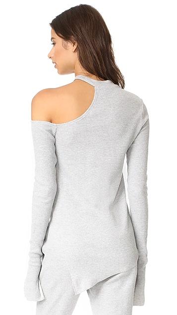 Twenty Tees Frazier Rib Open Shoulder Sweater