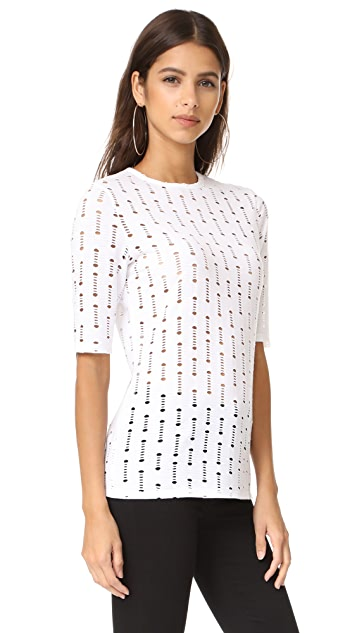 Twenty Tees Perforated Elbow Sleeve Tee