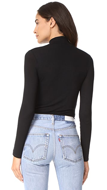 Twenty Tees Crescent Luxe Turtleneck Bodysuit