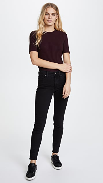 Twenty Tees Sherbrooke Ribbed Half Sleeve Top