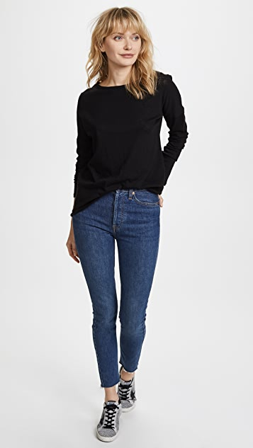 Twenty Tees Cotton Slub Long Sleeve Tee