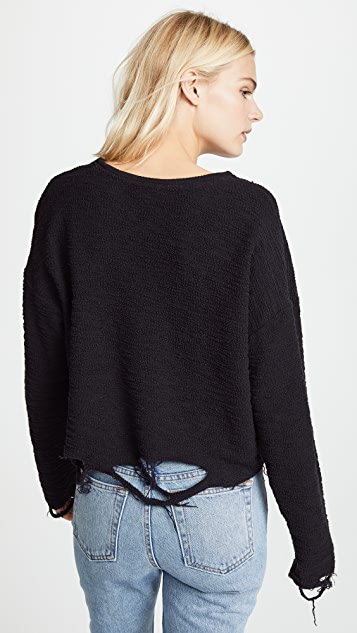 Twenty Tees Destroyed Hem Sweatshirt