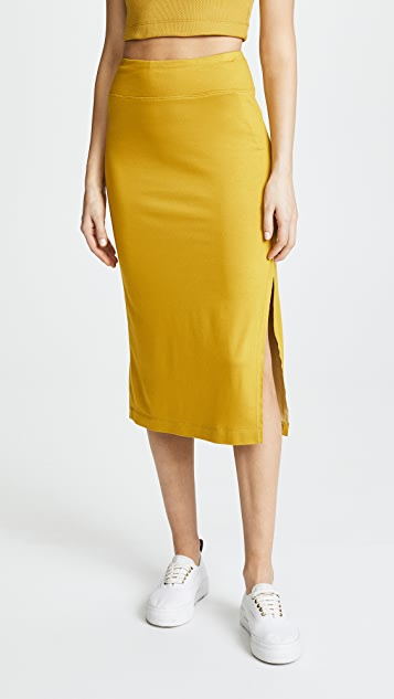 Drummond Plated Pencil Skirt by Twenty Tees