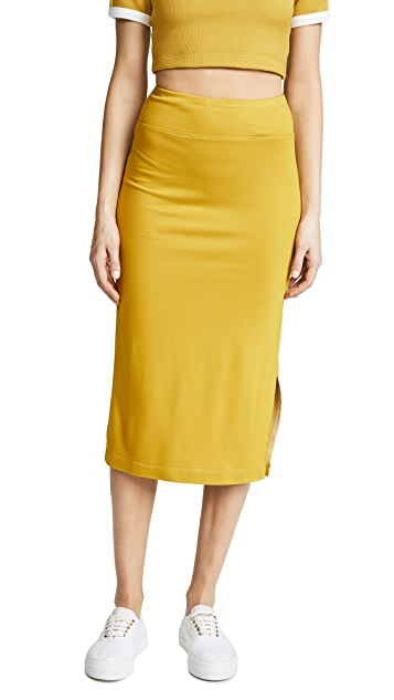 Twenty Tees Drummond Plated Pencil Skirt