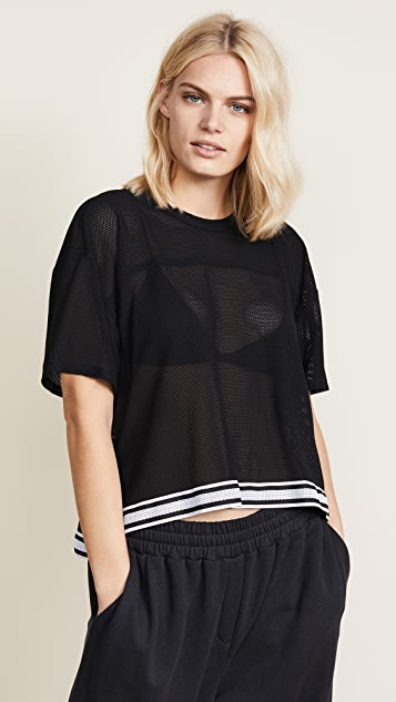 Twenty Tees Stayner Mesh Cropped Tee