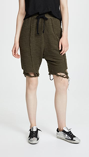 Twenty Tees Destroyed Hem Sweat Shorts