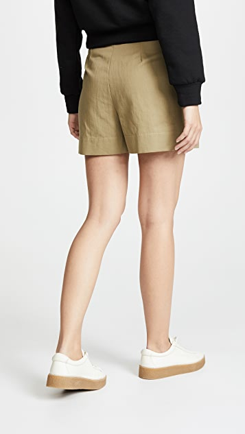 Twenty Tees Clark Canvas High Waist Shorts