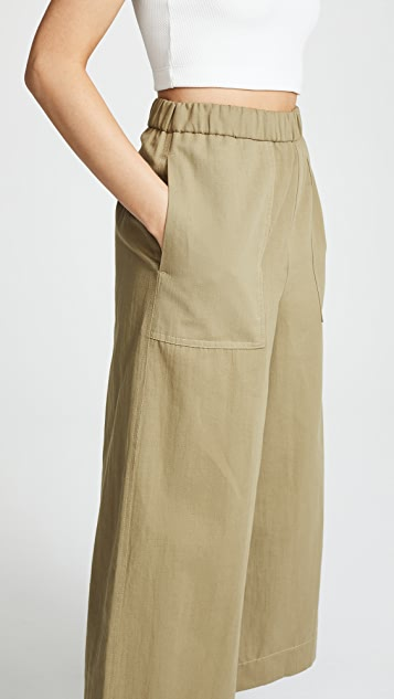 Twenty Tees Clark Canvas Wide Leg Culottes
