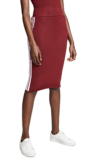TWENTY MONTREAL Ribbed Racer Pencil Skirt