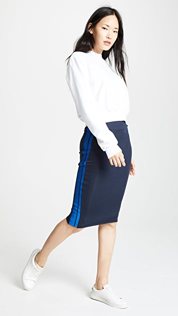 Twenty Tees Ribbed Racer Pencil Skirt