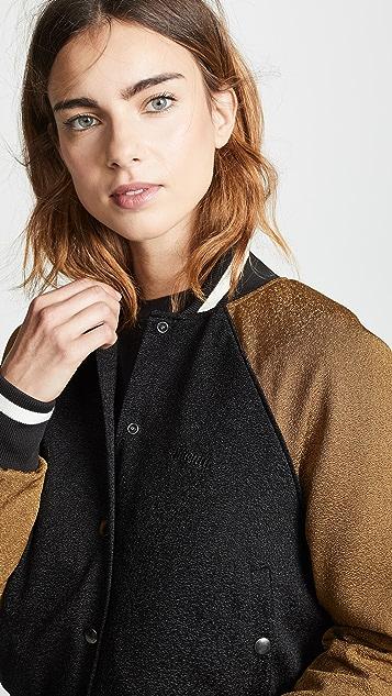 TWENTY MONTREAL Kent Crepe Varsity Jacket